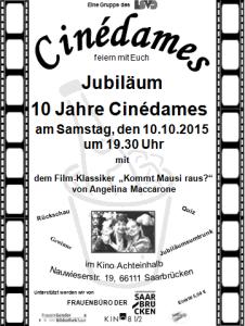 Cinedames Jubiläum für Homepage